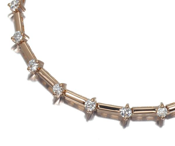 スタージュエリー ブレスレット ダイヤモンド 0.54ct K18PG