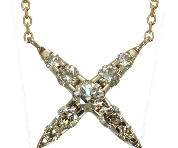 カシケイ ネックレス ダイヤモンド 0.50ct ネイキッド K18BG