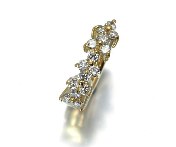 ポンテヴェキオ ピアリング ピアス イヤリング ダイヤモンド 0.20ct フープ 片耳 K18YG