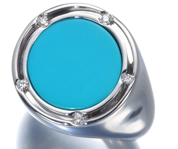 ダミアーニ リング ターコイズ ダイヤモンド D-SIDE K18WG