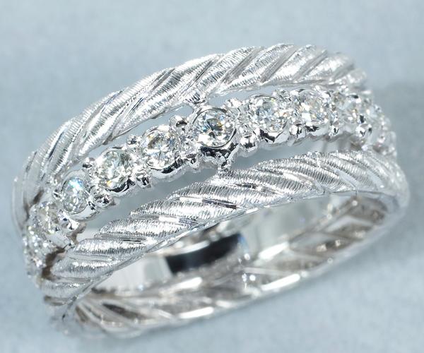 ブチェラッティ リング ダイヤモンド ハーフ 11.5号 K18WG