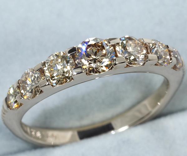 カシケイ リング ダイヤモンド 1.00ct ネイキッド 10.5号 K18BG