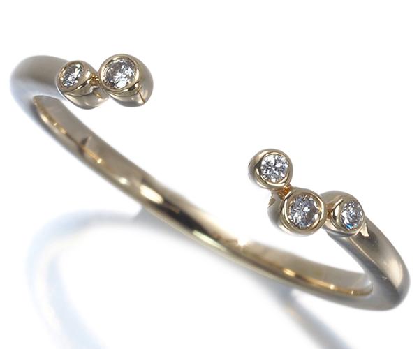 スタージュエリー リング ダイヤモンド 0.02ct ピンキー 2号 K10YG