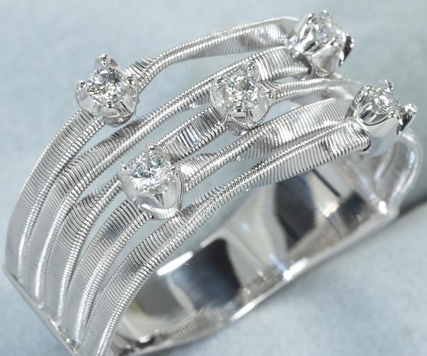 マルコビチェゴ リング マラケシュ ダイヤモンド 0.15ct 17号 K18WG