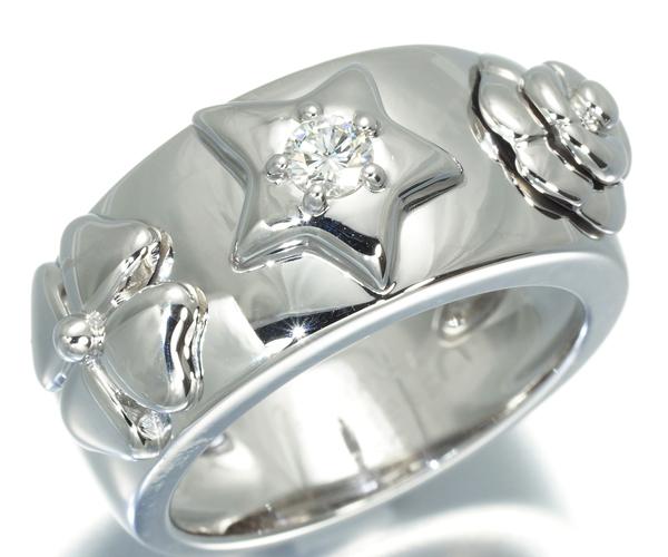 シャネル リング ダイヤモンド スリーシンボル 10号  K18WG