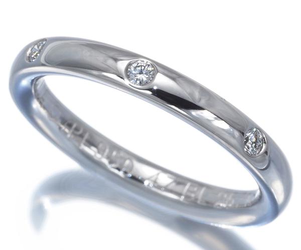ヴァンクリーフ&アーペル リング ダイヤモンド 3P アンフィニエトワール 47号 Pt950