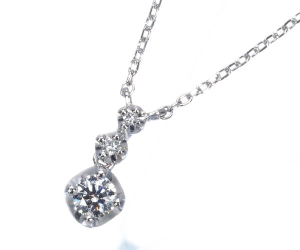 ヴァンドーム ネックレス ダイヤモンド 0.108ct 0.01ct Pt950/Pt850