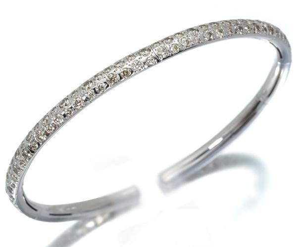 カシケイ ブレスレット ダイヤモンド 2.70ct カシケイバンド バングル K18WG