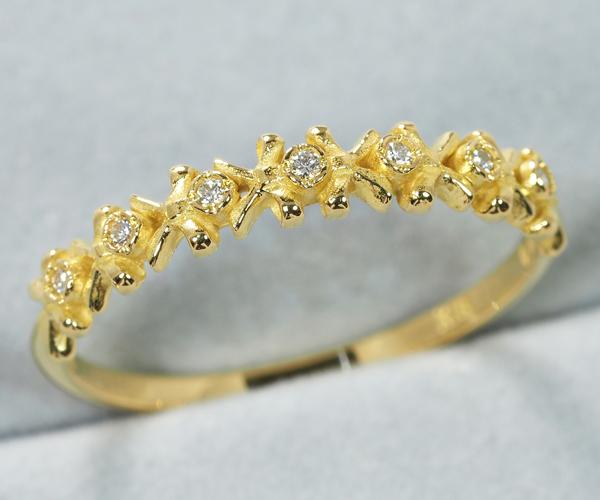 アーカー リング ダイヤモンド ユイットリュバン 12号 K18YG