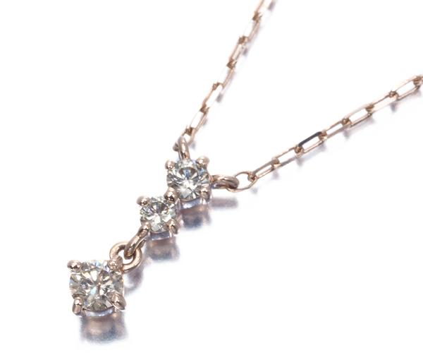 4℃ ヨンドシー ネックレス ダイヤモンド K10PG