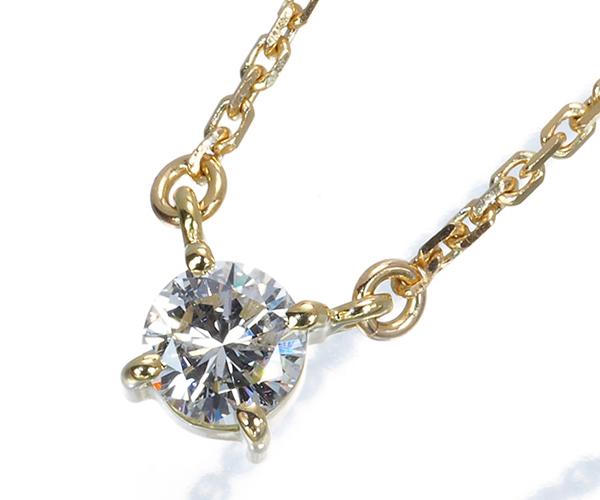 TASAKI タサキ ネックレス ダイヤモンド 0.38ct 一粒 K18YG