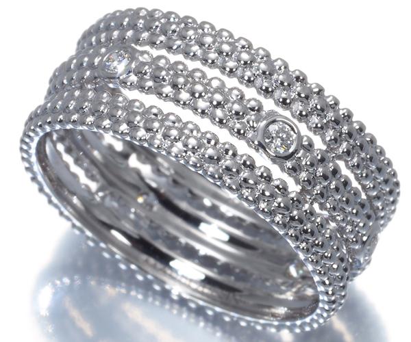 モーブッサン リング ダイヤモンド ル プルミエ ジュール 7号 K18WG