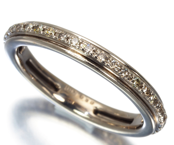 カシケイ リング ダイヤモンド 0.30ct カノン フルエタニティ 12号 K18BG