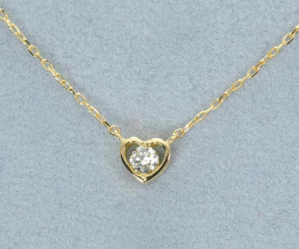 アーカー ネックレス ダイヤモンド ロゼーハート K18YG