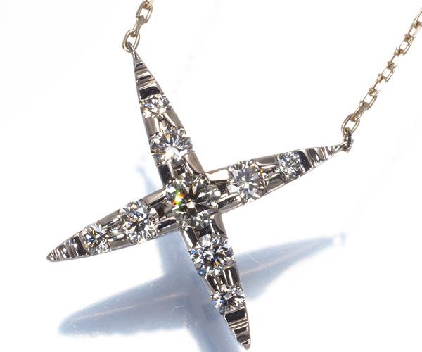カシケイ ネックレス ダイヤモンド 0.45ct ネイキッド K18BG