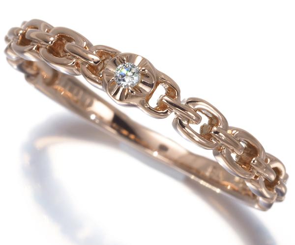 スタージュエリー リング ダイヤモンド チェーンデザイン 14号 K18PG