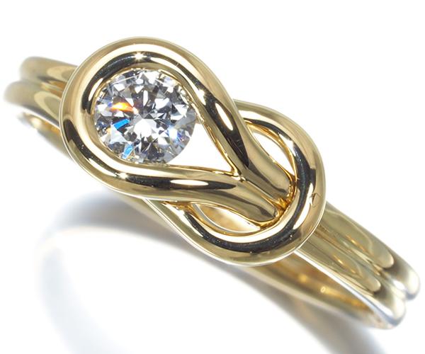 フォーエバーマーク リング ダイヤモンド 0.30ct エンコルディア 12号 K18YG
