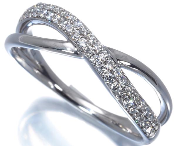 スタージュエリー リング ダイヤモンド 0.21ct 12号 K18WG