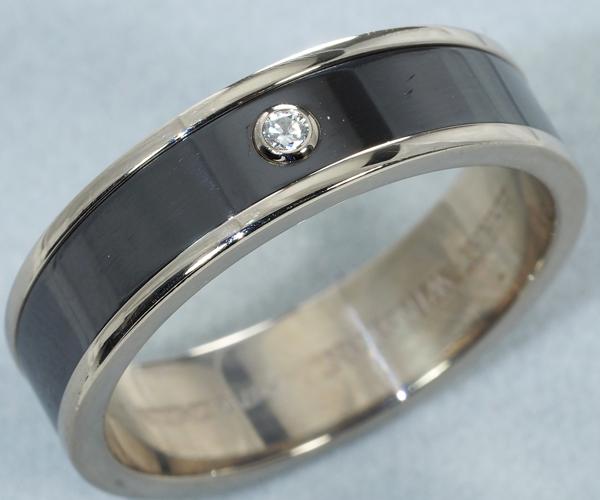 ハリーウィンストン リング ダイヤモンド バンドリング 21号 K18WG/ザリウム