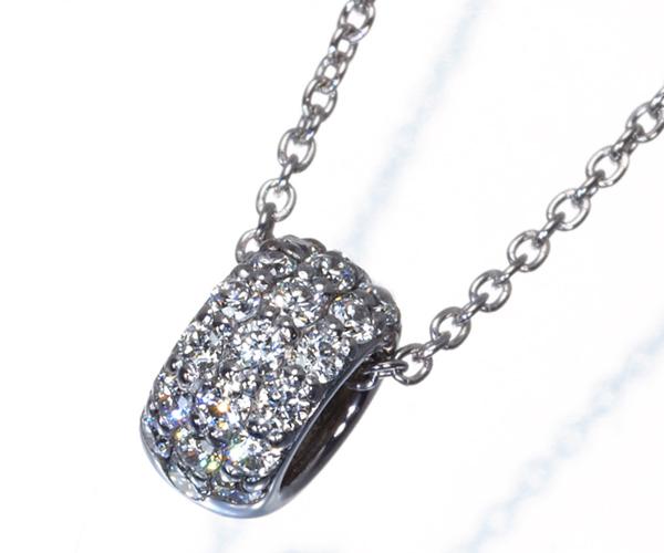 ポンテヴェキオ ネックレス ダイヤモンド 0.13ct ロトンド K18WG