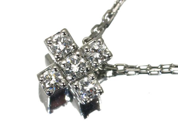 4℃ ヨンドシー ネックレス ダイヤ ダイヤモンド クロス Pt850