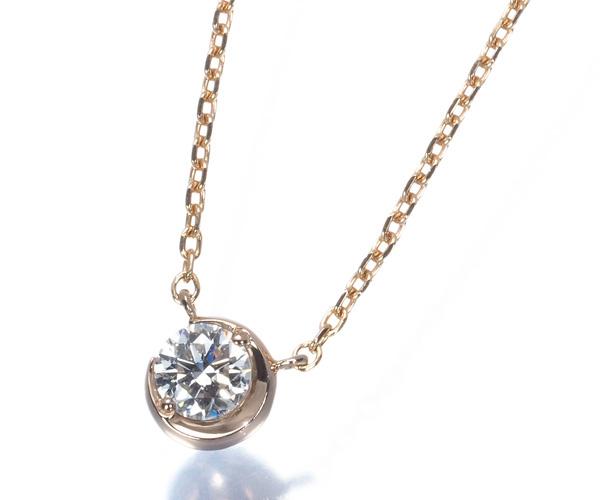 スタージュエリー ネックレス ダイヤモンド 0.10ct スター K18PG