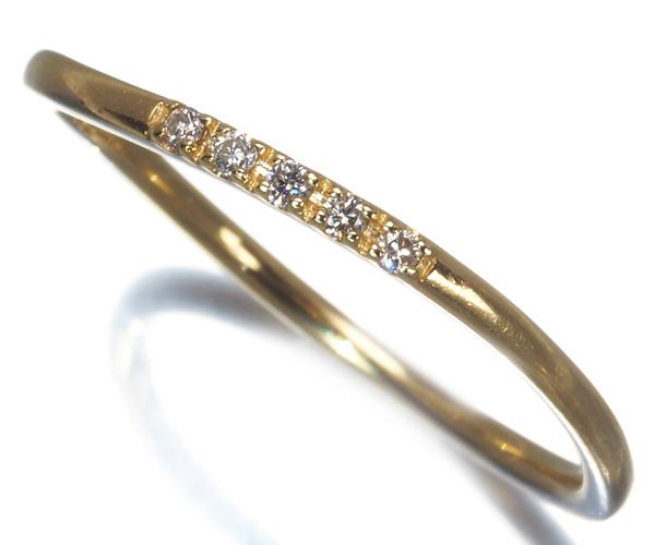 4℃ ヨンドシー リング ダイヤモンド 10号 K18YG