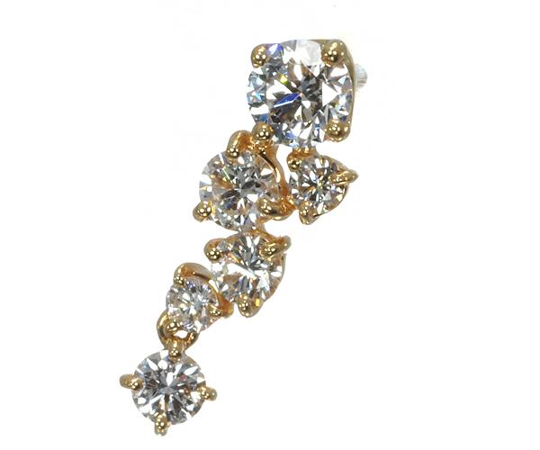 フォーエバーマーク ブローチ ダイヤモンド 0.15ct/0.20ct K18YG