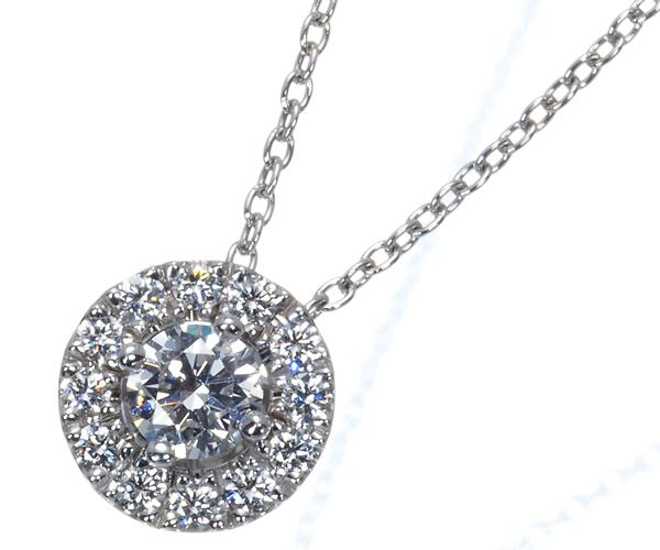 フォーエバーマーク ネックレス ダイヤモンド 0.19ct/0.11ct センターオブユニバース Pt900/Pt850