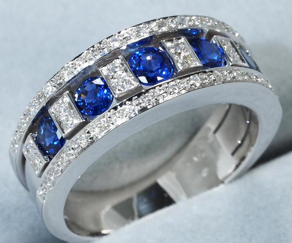ダミアーニ リング サファイア ダイヤモンド ベルエポック 13号 K18WG
