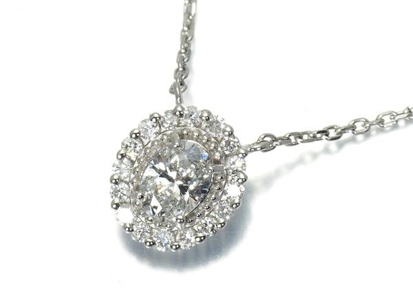 ヴァンドーム ネックレス ダイヤ 0.24ct ネックレス Pt950/Pt850/プラチナ