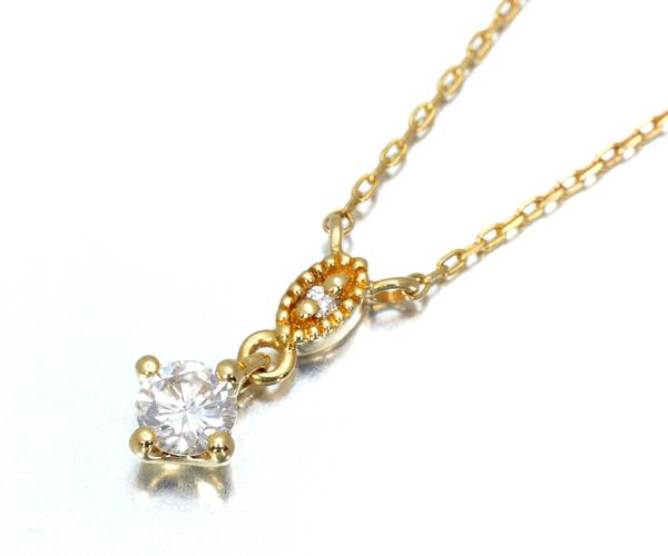 オデュース4℃ ネックレス ダイヤモンド K18YG