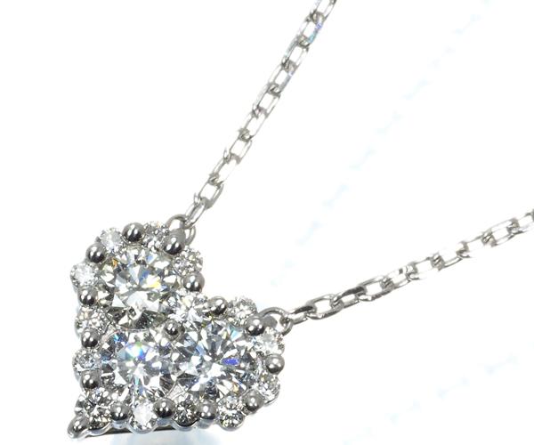 ヴァンドーム ネックレス ダイヤモンド 0.30ct ハート Pt950/Pt850
