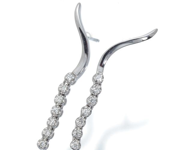 スタージュエリー ピアス ダイヤモンド 0.14ct/0.14ct K18WG