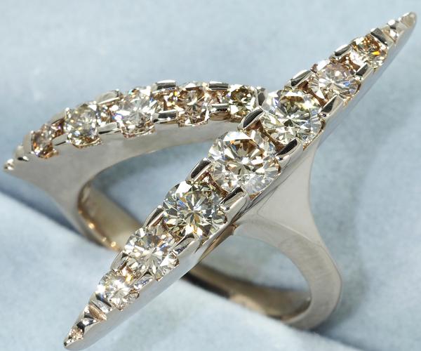 カシケイ リング ダイヤモンド 1.20ct ネイキッド 6号 K18BG