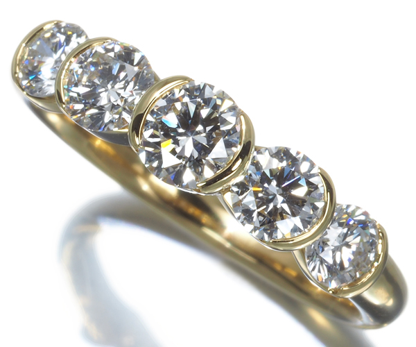 モニッケンダム リング ダイヤモンド 1.04ct K18YG