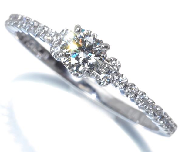 アーカー リング ダイヤモンド 0.242ct/0.10ct PEME アムール 10号 K18WG