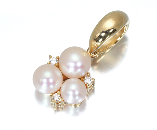 TASAKI タサキ ペンダントトップ アコヤ真珠 パール 4.3-5.3mm珠 ダイヤモンド 0.04ct K18YG