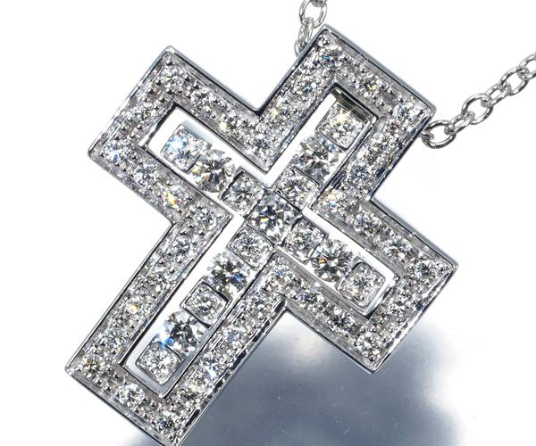 ダミアーニ ネックレス ダイヤモンド ベルエポック クロス K18WG