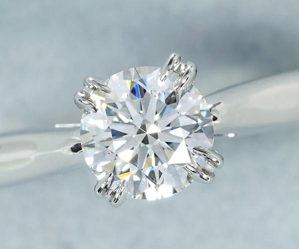 ハリーウィンストン リング ダイヤモンド 0.50ct F VS1 VG ラウンド・ソリティア 10号 Pt950