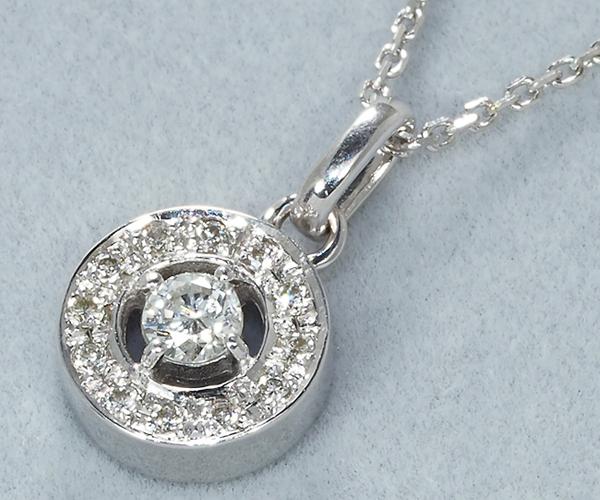 ヴァンドーム ネックレス ダイヤモンド 0.14ct K18WG
