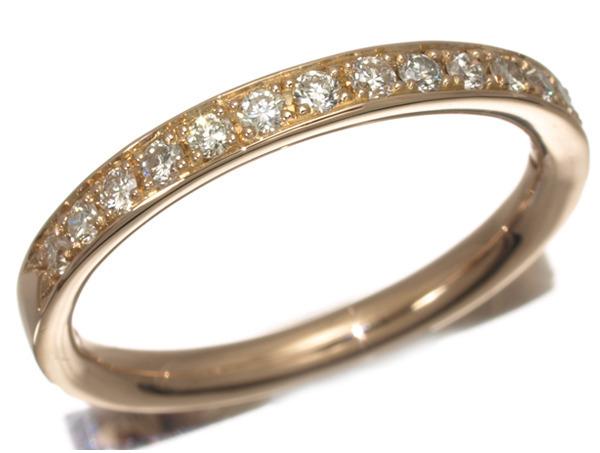 4℃ ヨンドシー リング 指輪 ダイヤ ダイヤモンド ハーフエタニティ K18PG