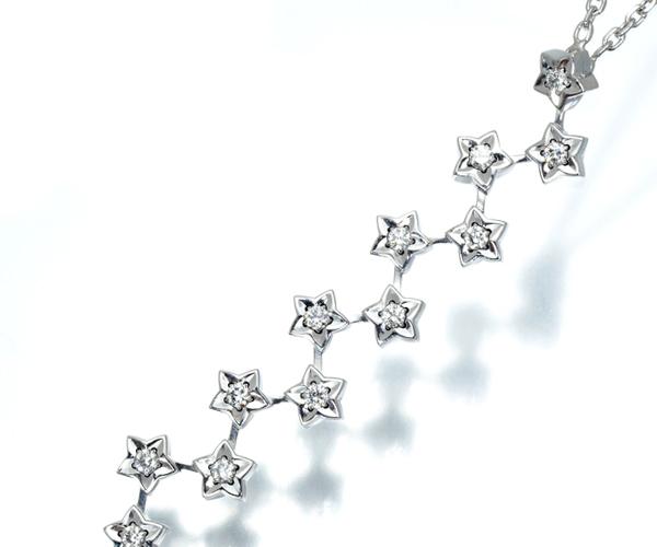 シャネル ネックレス ダイヤモンド コメット K18WG
