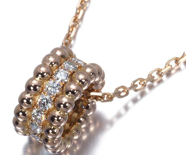 ヴァンクリーフ&アーペル ネックレス ダイヤモンド ペルレ K18PG