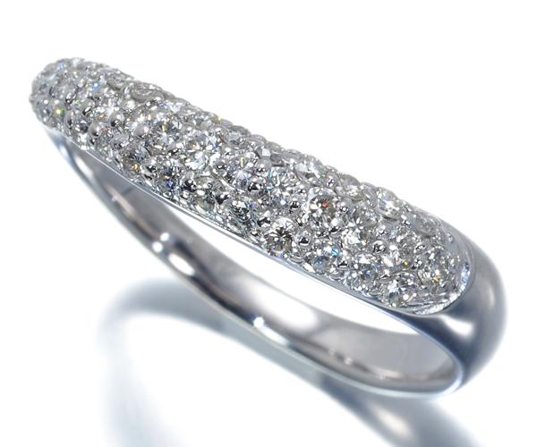 ポンテヴェキオ リング ダイヤモンド 0.40ct パヴェ ウェーブ K18WG