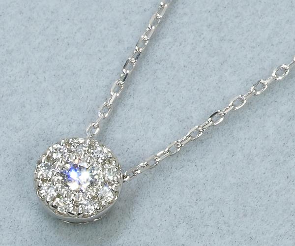 ポンテヴェキオ ネックレス ダイヤモンド 0.06ct Pt999/Pt850