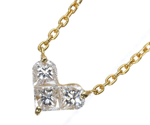 スタージュエリー ネックレス ダイヤモンド 0.28ct ミステリアス ハート K18YG
