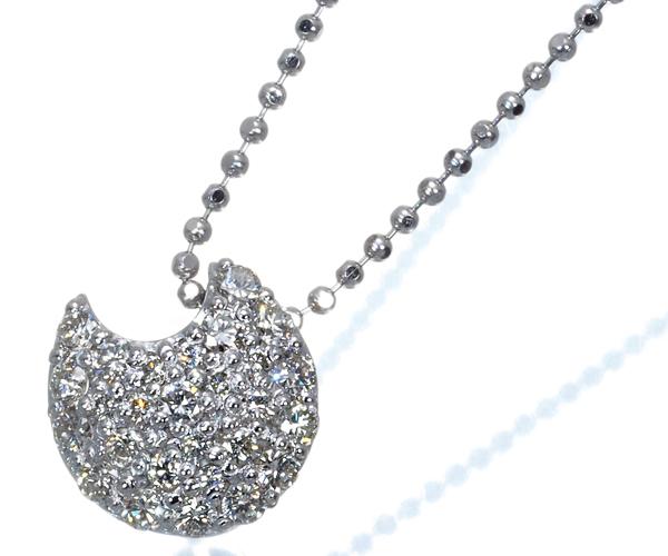 ポンテヴェキオ ネックレス ダイヤモンド 0.32ct ムーン 月 K18WG