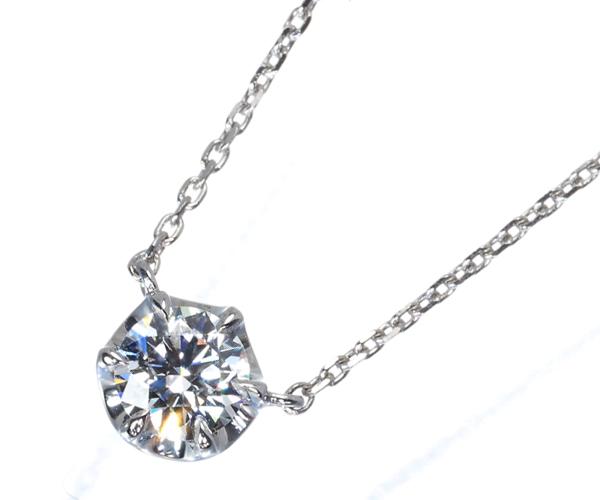4℃ ヨンドシー ネックレス 一粒 ダイヤモンド 0.272ct Pt850