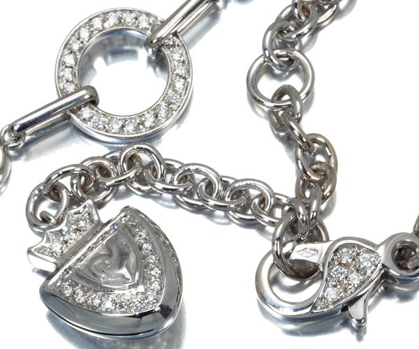 シャンテクレール ネックレス ダイヤモンド おんどり K18WG